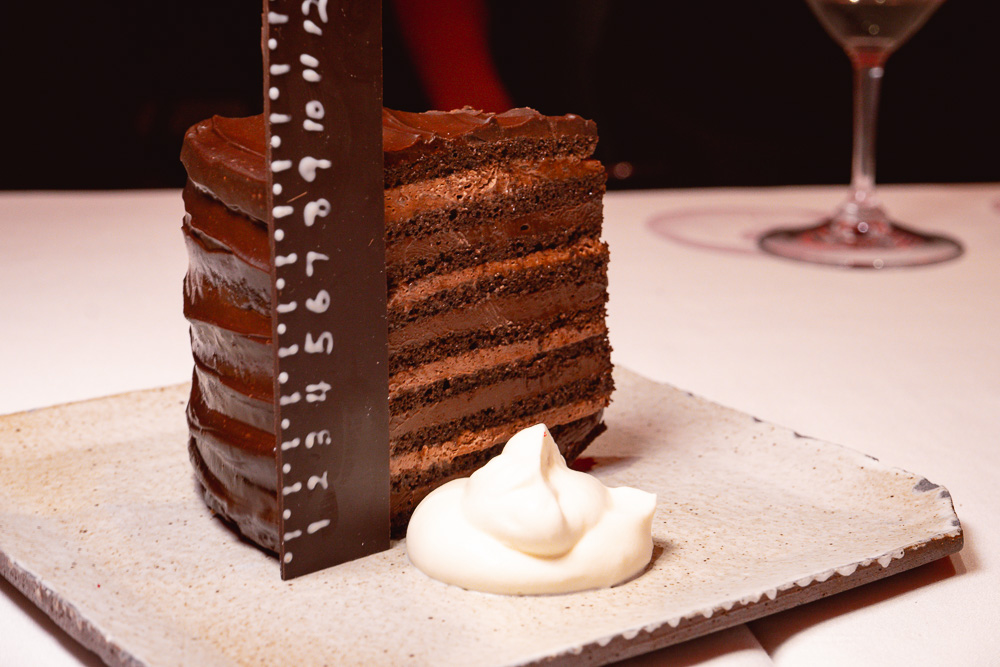 Chocolate cake dessert at Rye & Co, a classic American steakhouse in Shanghai. Photo by Rachel Gouk @ Nomfluence.