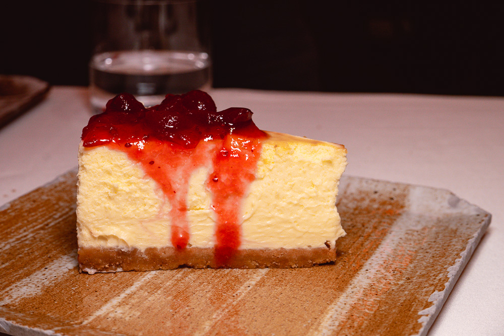 Baked New York cheesecake dessert at Rye & Co, a classic American steakhouse in Shanghai. Photo by Rachel Gouk @ Nomfluence.