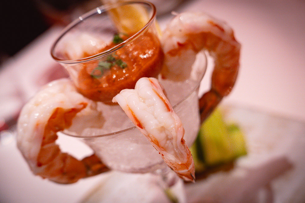 Cocktail shrimp at Rye & Co, a classic American steakhouse in Shanghai. Photo by Rachel Gouk @ Nomfluence.