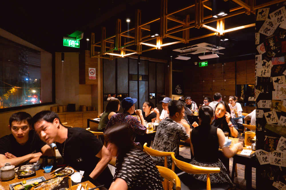 Yakingtori a Japanese restaurant in Shanghai that does yakitori. Photo by Rachel Gouk @ Nomfluence.