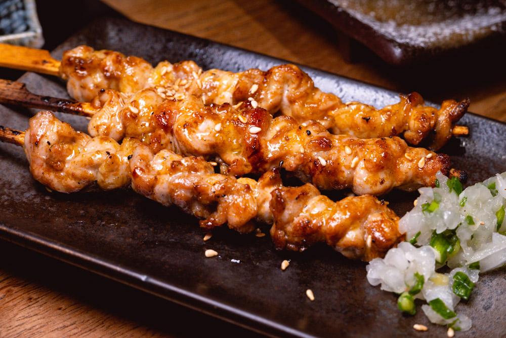 Chicken yakitori  at Yakingtori, a Japanese restaurant in Shanghai that does yakitori. Photo by Rachel Gouk @ Nomfluence.