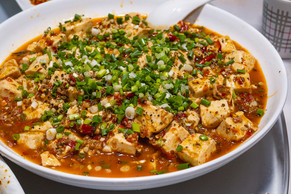 Mapo tofu, an iconic Sichuan dish. La Wei Xian 辣味鲜, a private kitchen serving authentic Sichuan food in Shanghai. Photo by Rachel Gouk @ Nomfluence.