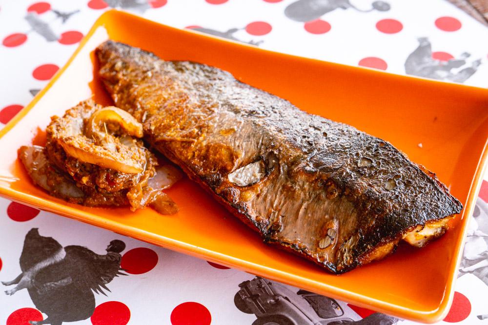 Mackerel with sambal belacan. Food blogger Rachel Gouk @ Nomfluence does a Malaysian pop-up dinner at Tomatito, Shanghai.