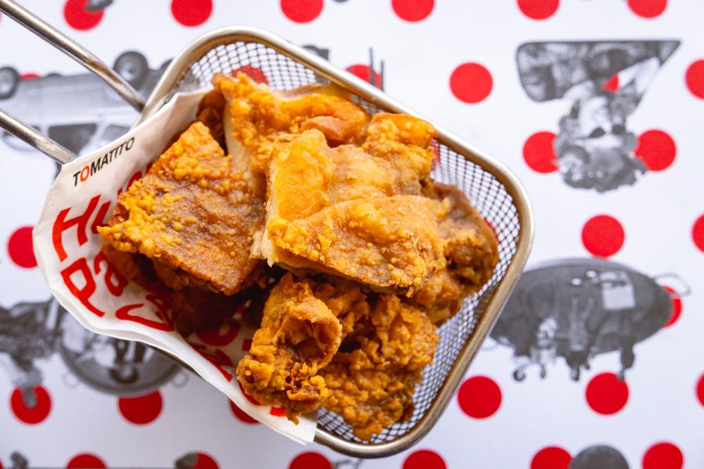 Belacan fried chicken. Food blogger Rachel Gouk @ Nomfluence does a Malaysian pop-up dinner at Tomatito, Shanghai.