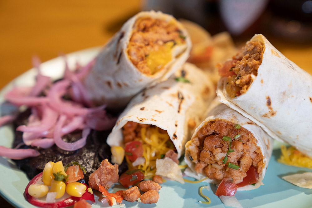 """Z-Rou plant-based meat at Cantina Agave. Z-Rou is Shanghai's own plant-based """"meat"""" product—try it at these five restaurants."""
