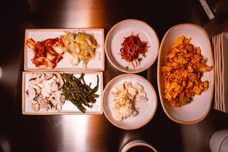Banchan — house made kimchi. Botong Sikdang (JIng'an) is a Korean restaurant in Shanghai that specializes in grilled pork and banchan. Photo by Rachel Gouk @ Nomfluence.