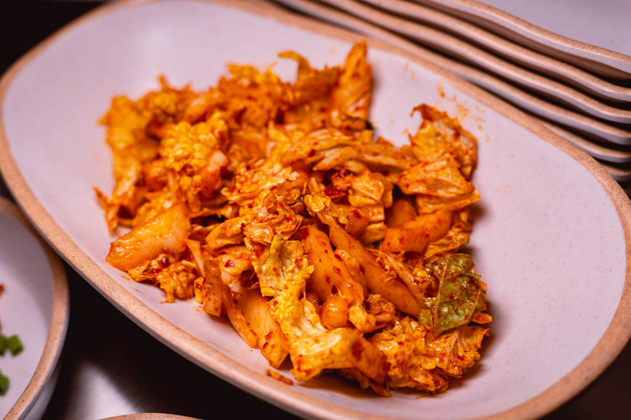 Kimchi at Botong Sikdang (JIng'an), a Korean restaurant in Shanghai that specializes in grilled pork and banchan. Photo by Rachel Gouk @ Nomfluence.