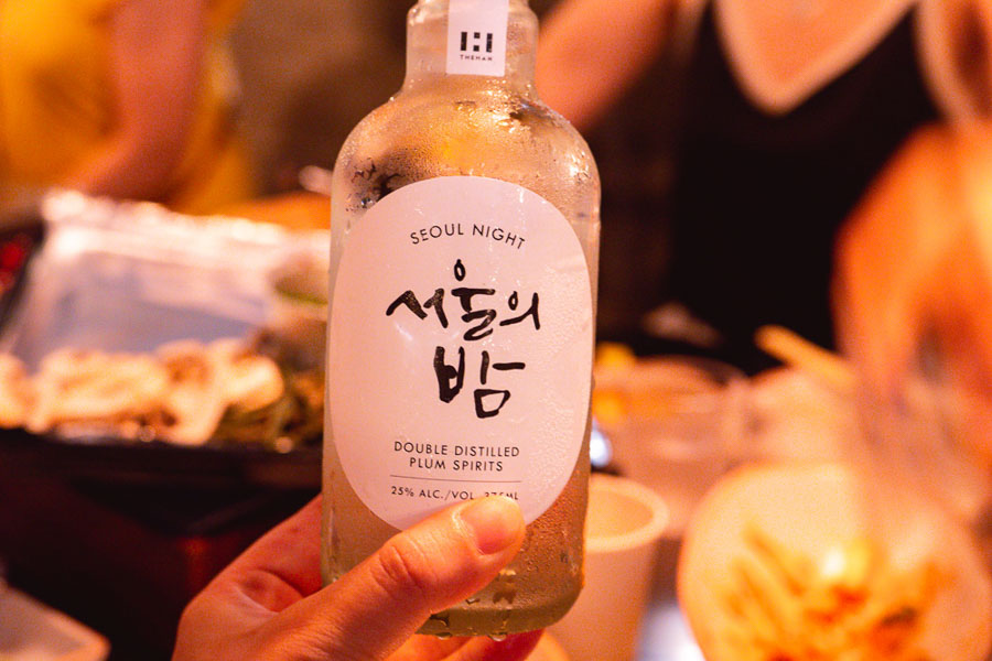 Plump Spirits for drinks at Botong Sikdang (JIng'an), a Korean restaurant in Shanghai that specializes in grilled pork and banchan. Photo by Rachel Gouk @ Nomfluence.