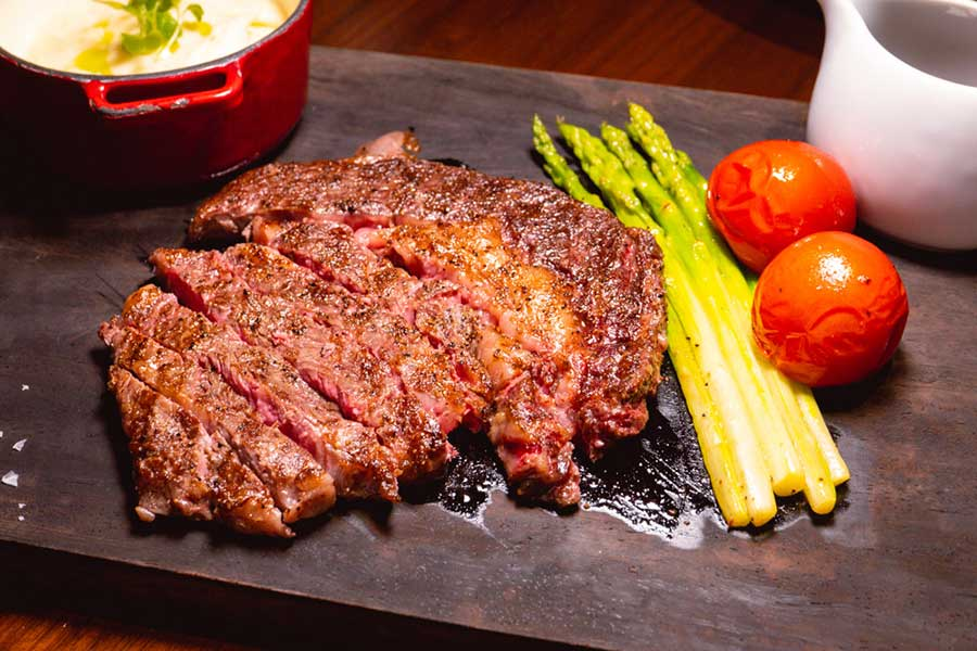 Steak at La Scala, an Italian restaurant at the Sukhothai Shanghai. Photo by Rachel Gouk @ Nomfluence.