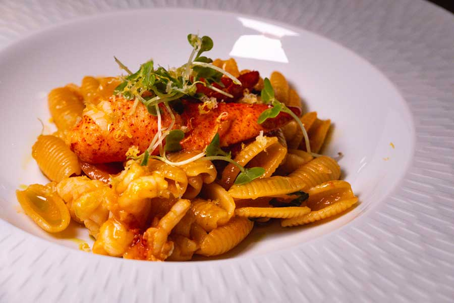 Pasta at La Scala, an Italian restaurant at the Sukhothai Shanghai. Photo by Rachel Gouk @ Nomfluence.