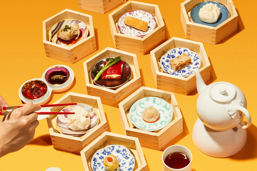 All you can eat dim sum at YEN CHA Chinese restaurant at the W Shanghai. @ Nomfluence