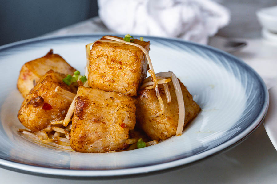 Stir-fried radish cake. All-you-can-eat dim sum brunch at YEN Chinese restaurant, W Shanghai. Photo by Rachel Gouk @ Nomfluence.