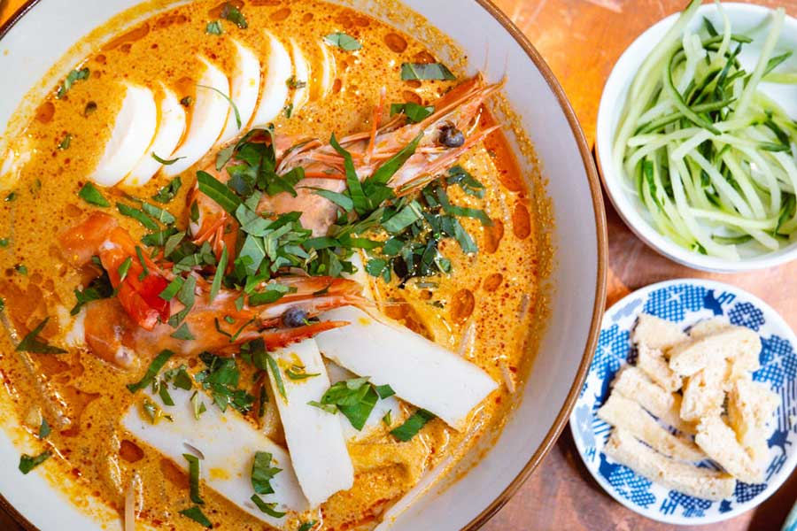 Curry laksa at Ginger, a modern Asian restaurant in Shanghai. Photo by Rachel Gouk @ Nomfluence.