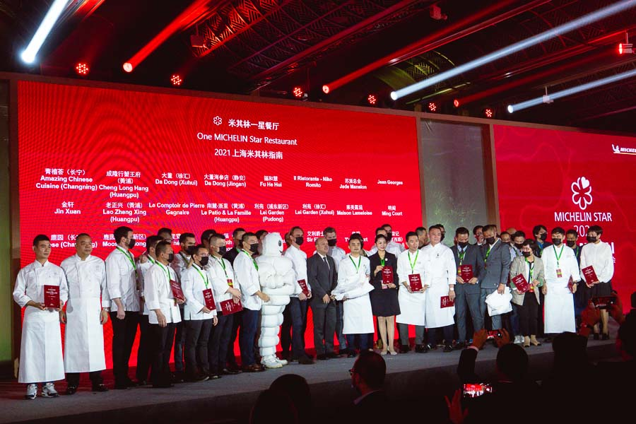 Michelin Guide Shanghai 2021 — 43 restaurants in Shanghai awarded Michelin stars at the fifth edition of the guide. Photo by Rachel Gouk @ Nomfluence.