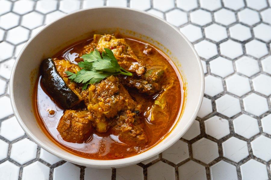 Eggplant Curry by Rachel Gouk @ Nomfluence, Malaysian food pop-ups in Shanghai.