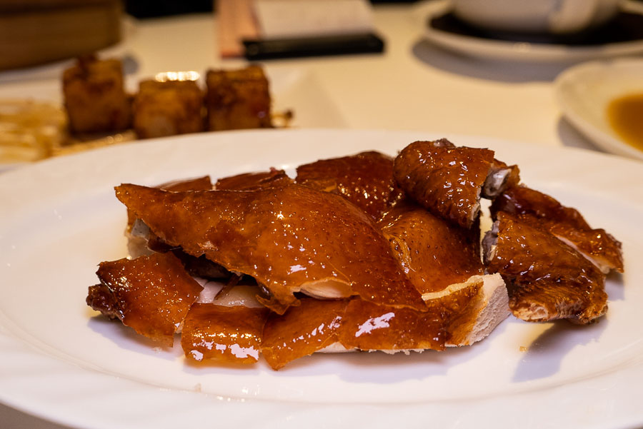 Signature crispy chicken. Dim sum at Seventh Son, a Michelin one-star restaurant in Shanghai. Photo by Rachel Gouk @ Nomfluence.