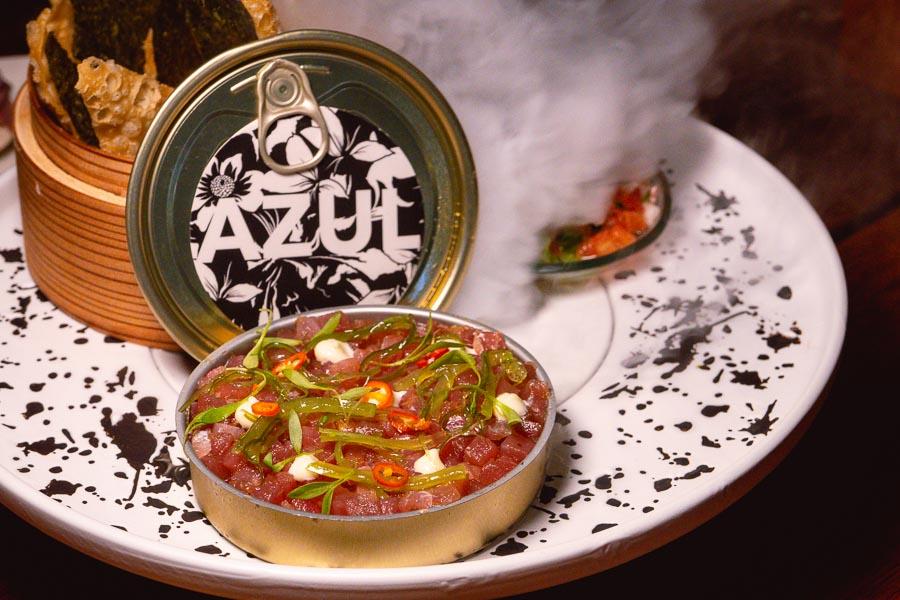 Tuna Tartare at Azul, a Latin American restaurant in Shanghai by chef Eduardo Vargas. Photo by Rachel Gouk @ Nomfluence.