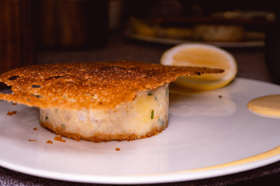 Crab Cake - Dinner at Mr & Mrs Bund. Photo by Rachel Gouk @ Nomfluence.