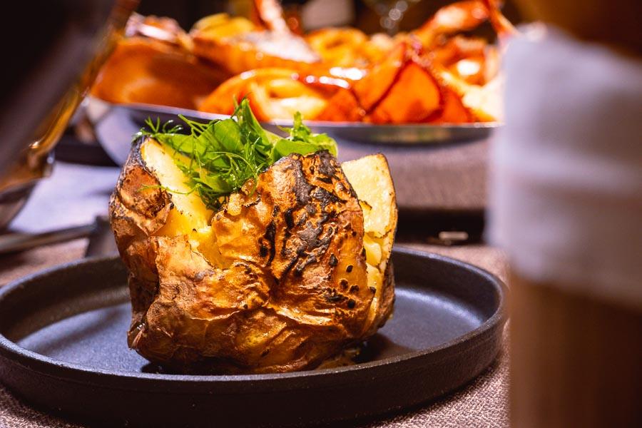 Jacket potato  - Dinner at Mr & Mrs Bund. Photo by Rachel Gouk @ Nomfluence.