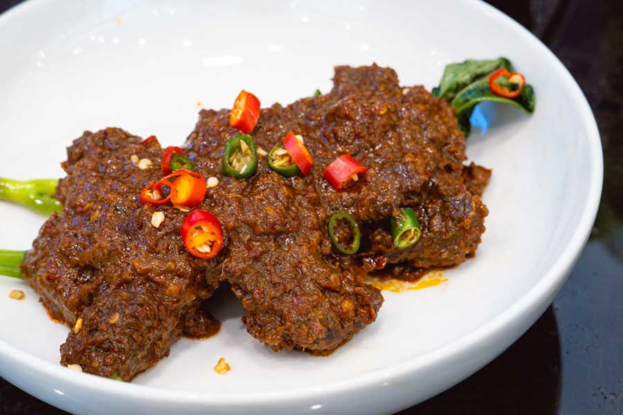 Beef Rendang at The Pawon, an Indonesian restaurant in Gubei, Shanghai. Photo by Rachel Gouk  Nomfluence.