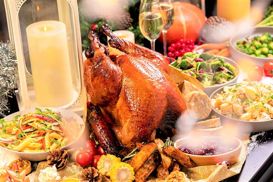 Thanksgiving dinner in Shanghai and turkey to go at Portman Ritz-Carlton.