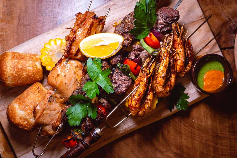 Barbecue meat skewers at Barbarian, a restaurant and bar in Shanghai. Photo by Rachel Gouk @ Nomfluence.