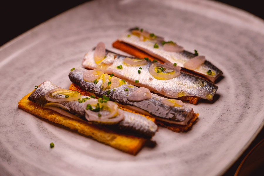 Sardines at Cellar To Table, a Mediterranean restaurant and wine bar in Shanghai. Photo by Rachel Gouk @ Nomfluence.