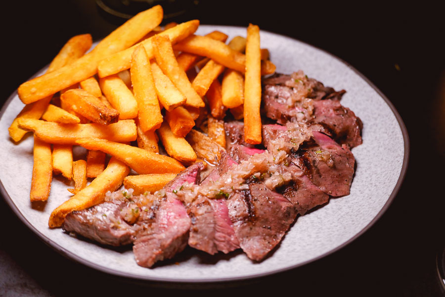 Steak Frites at Cellar To Table, a Mediterranean restaurant and wine bar in Shanghai. Photo by Rachel Gouk @ Nomfluence.