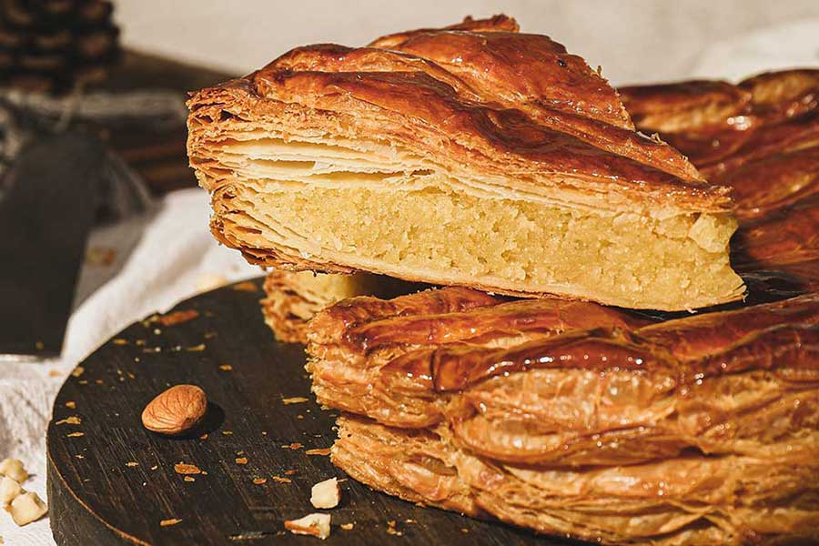 Where to buy galette de rois, king cake in Shanghai. Luneurs bakery and cafe.