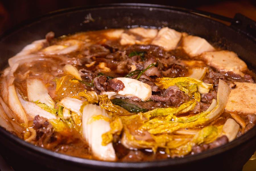 Sukiyaki at Xiao's Izakaya, a Japanese restaurant in Shanghai's Gubei district. Photo by Rachel Gouk @ Nomfluence.