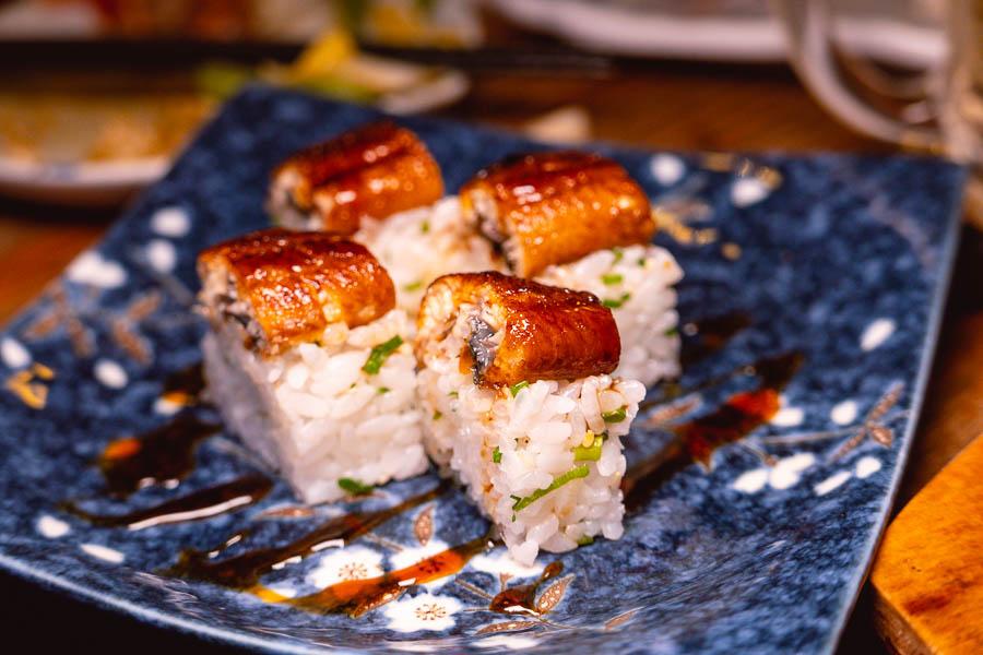 Sushi at Xiao's Izakaya, a Japanese restaurant in Shanghai's Gubei district. Photo by Rachel Gouk @ Nomfluence.
