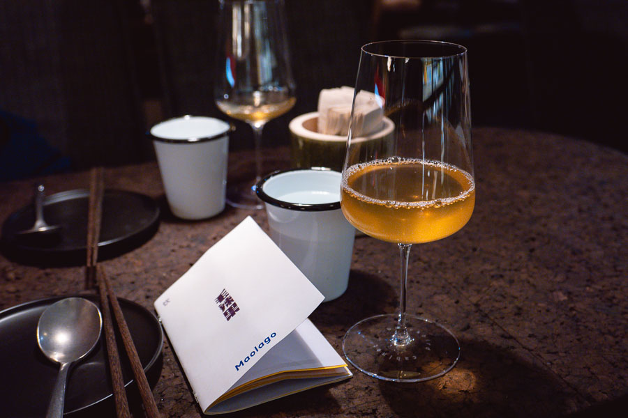 Drip wine at Maolago, a restaurant and bar in Shanghai that serves contemporary Guizhou food and wine. Photo by Rachel Gouk @ Nomfluence.