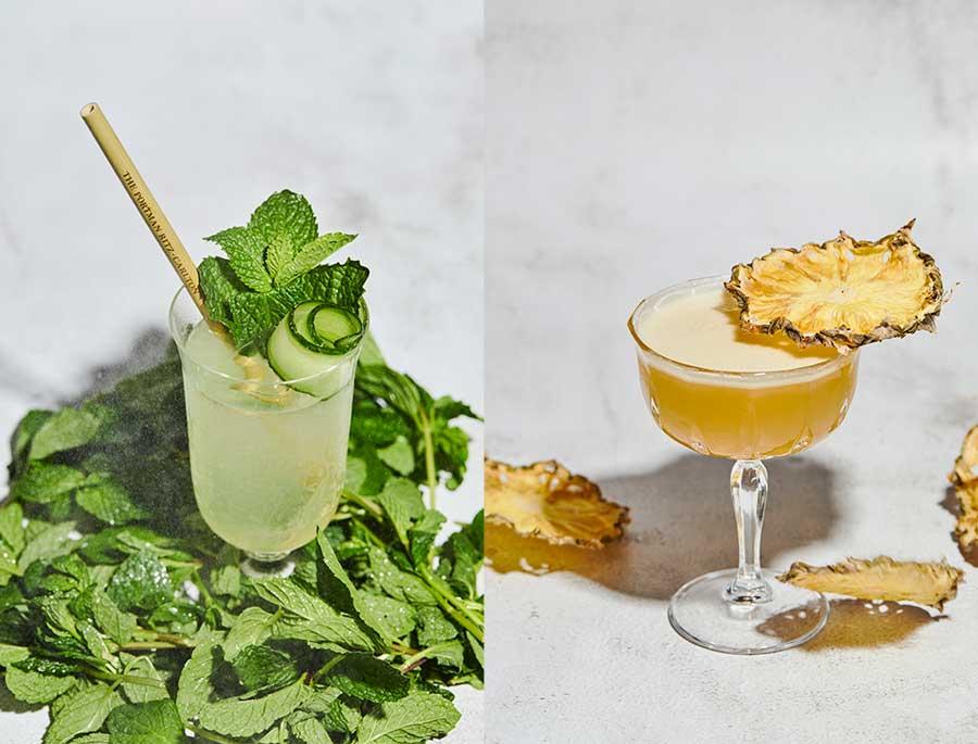 Southeast Asian cocktails at Portman's Restaurant, Portman Ritz-Carlton Shanghai.