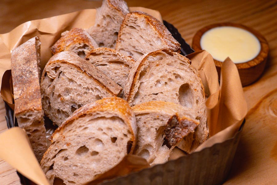 Bread at Blaz Canteen & Wine Bar, a French bistro in Shanghai. Photo by Rachel Gouk @ Nomfluence.