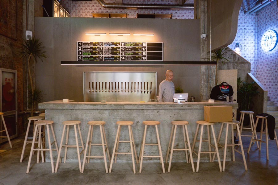 Mikkeller Taproom Shanghai for craft beers. Best new restaurants and bars in Shanghai from 2020. Photo by Rachel Gouk @ Nomfluence.