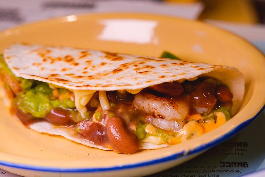 Quesadillas. Chihuahua is a cheap, casual Mexican taco restaurant and bar in Jing'an, Shanghai. Photo by Rachel Gouk @ Nomfluence
