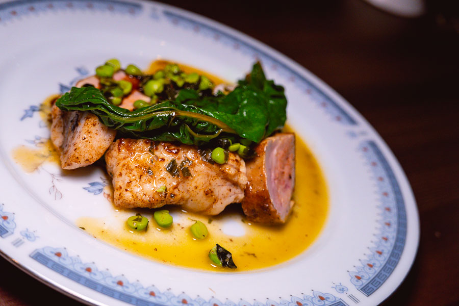Monk fish. Mavis is a natural wine bar and bistro in Shanghai, serving French food from a chalkboard menu. Photo by Rachel Gouk @ Nomfluence