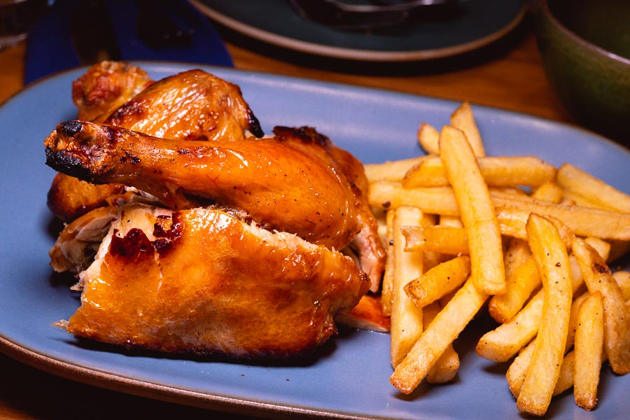 Chicken and fries. Ottimo is a wine bar and restaurant in Shanghai. Photo by Rachel Gouk @ Nomfluence.