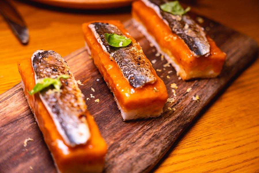 Sardines on toast. Ottimo is a wine bar and restaurant in Shanghai. Photo by Rachel Gouk @ Nomfluence.