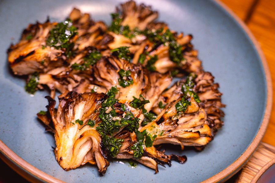 Maitake mushrooms. Ottimo is a wine bar and restaurant in Shanghai. Photo by Rachel Gouk @ Nomfluence.