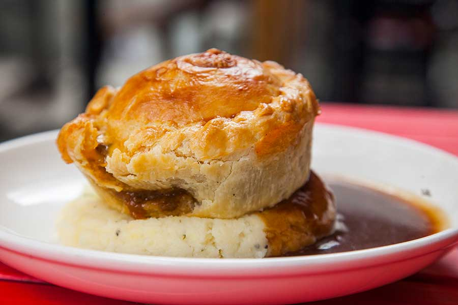 Pie and mash. From March 1-7, Shanghai's Pie Society is bringing back a full week dedicated to British Pies! Photo by Rachel Gouk @ Nomfluence