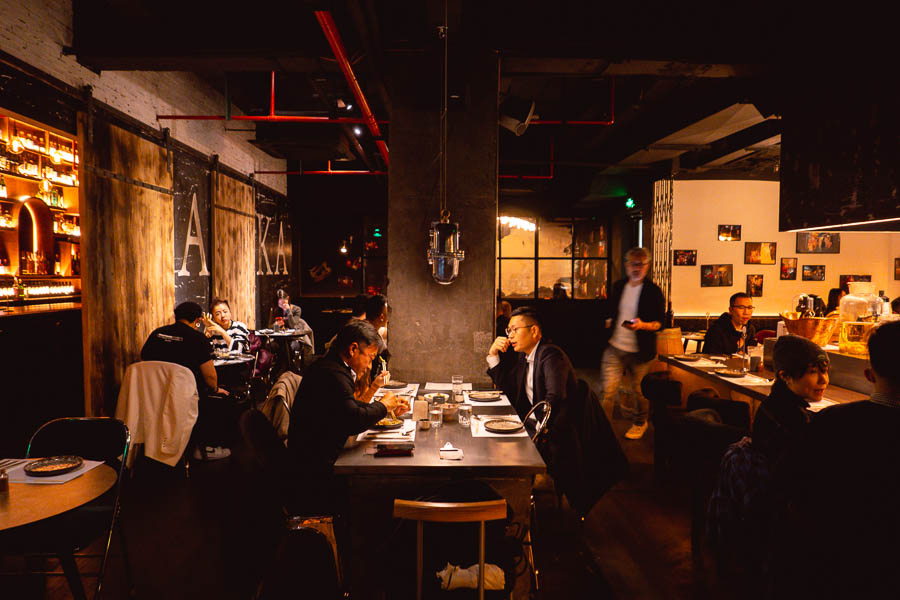 Atelier Izakaya, a Japanese restaurant in Jing'an Shanghai that does yakitori and cocktails. Photo by Rachel Gouk @ Nomfluence