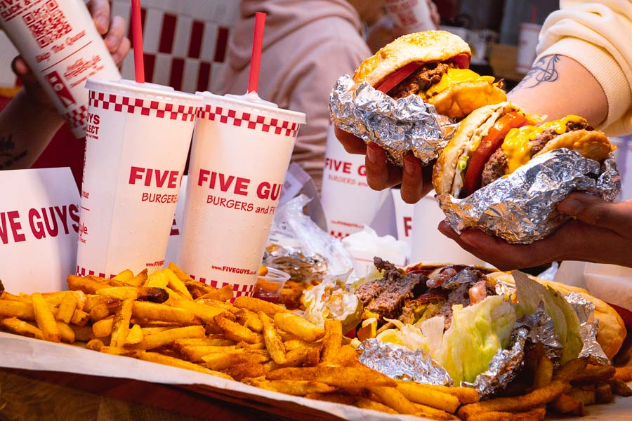 American burger chain Five Guys opens its first location in China, in Huangpu district, Shanghai. Photo by Rachel Gouk @ Nomfluence