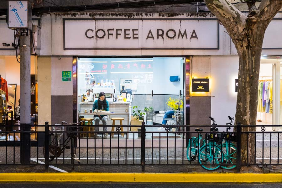 Coffee Aroma. Cafes and coffee shops in Shanghai. Photo by Rachel Gouk @ Nomfluence.