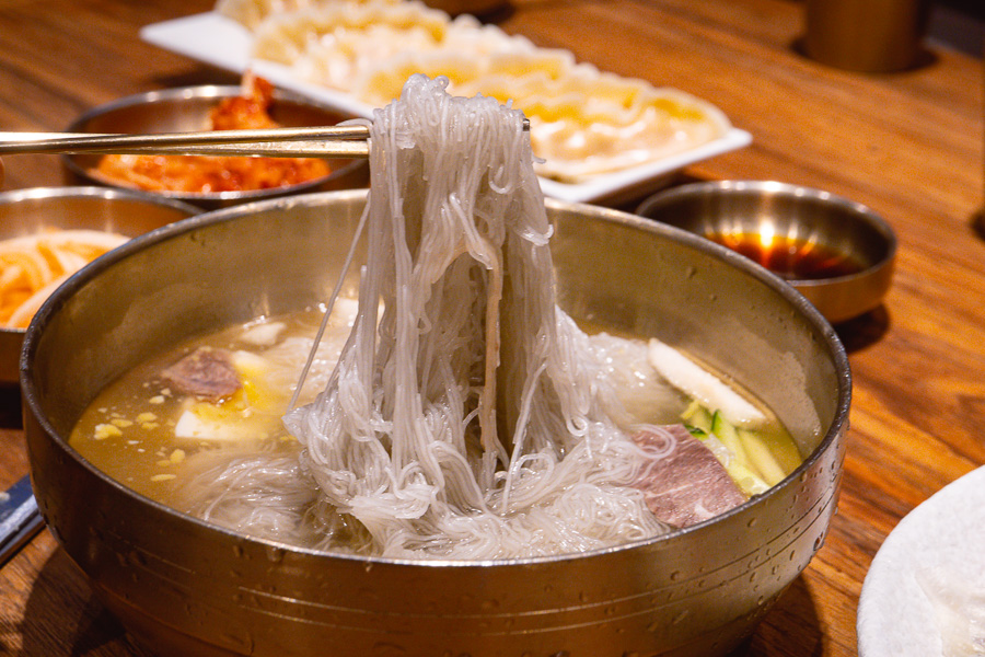 Best Korean cold noodles in Shanghai at Pojeong. Photo by Rachel Gouk @ Nomfluence