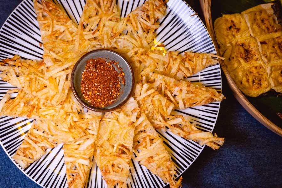 Fried potatoes at Ronglek, a cheap Yunnan restaurant in Shanghai. Photo by Rachel Gouk @ Nomfluence.