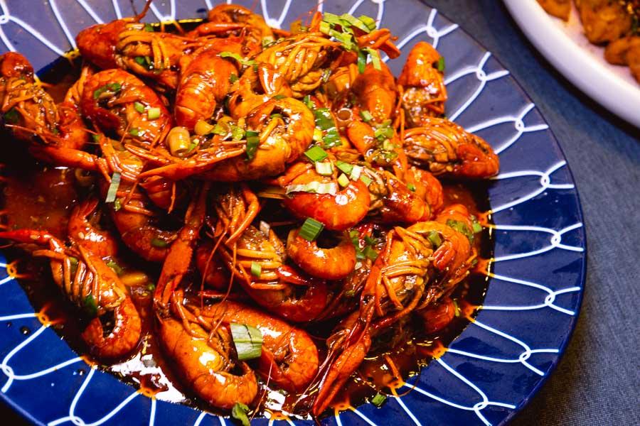 Crayfish at Ronglek, a cheap Yunnan restaurant in Shanghai. Photo by Rachel Gouk @ Nomfluence.