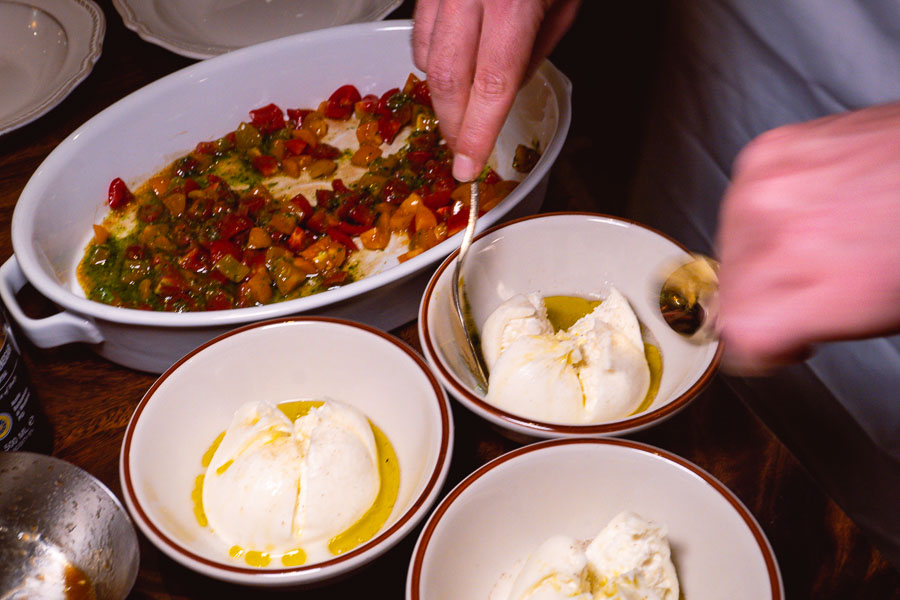 Burrata, tableside. Italo Trattoria is a casual Italian restaurant in Jing'an, Shanghai. Photo by Rachel Gouk @ Nomfluence.