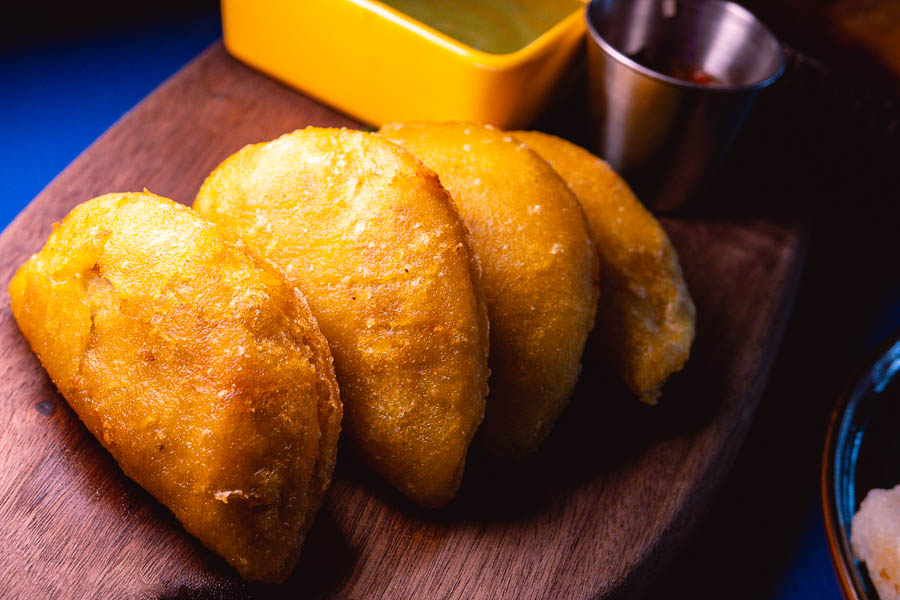 Empanada Colombia. LatinLand is a restaurant, lounge and club in Jing'an, Shanghai serving Latin and Colombian food. Photo by Rachel Gouk @ Nomfluence.