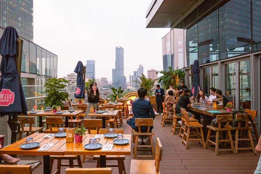 The CUT Rooftop, restaurant and lounge in Shanghai. Photo by Rachel Gouk @ Nomfluence.